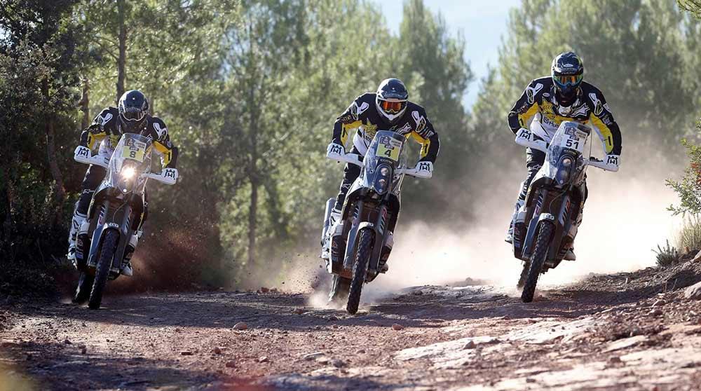 New three rider Husky team for Dakar 2016