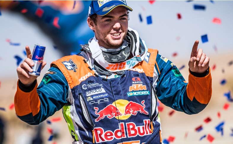 Oilibya Rally: Walkner (KTM) tops the podium, Honda 2 and 3.