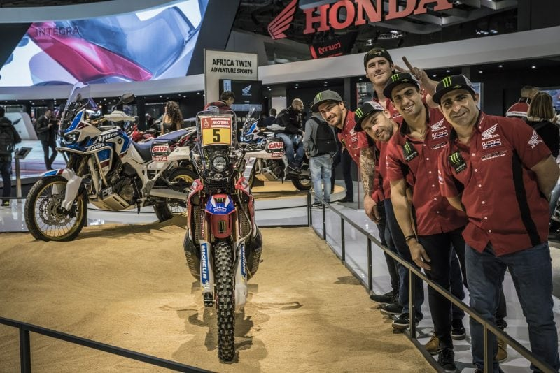 Monster Energy Honda Team reveal latest Honda innovations at Milan Show